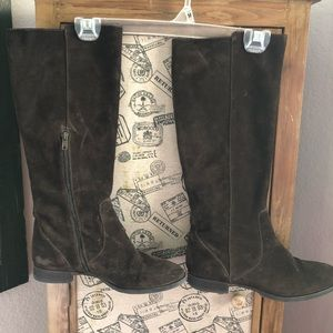J•Crew Suede Leather Boots
